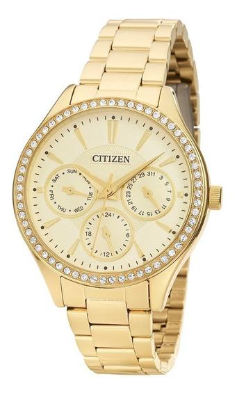 Relógio Citizen Feminino Dourado Tamanho Médio Tz28404g