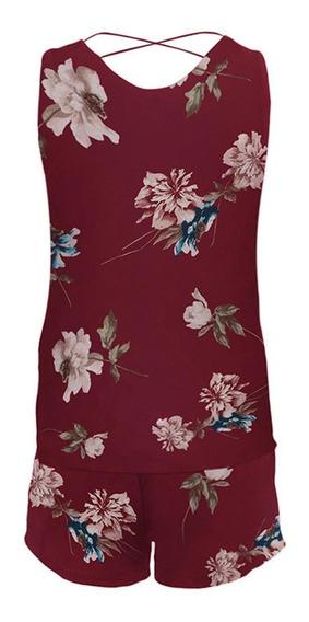 Mulheres Casual V-neck Sem Mangas Top Cordão Cintura Shorts