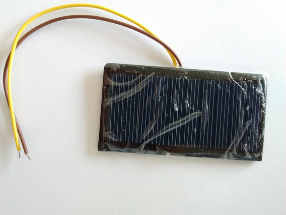 Mini Painel Placa Célula Solar Com Fio 5v 60ma 68x37mm