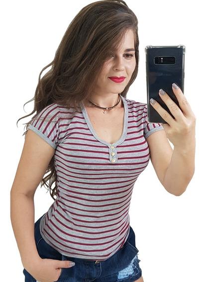 Camiseta Feminina Baby Look Blusinhas Moda Blogueira 2019