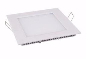 Kit C/ 5 Painel Plafon Led Embutir Brancoquente 6w Quadrado