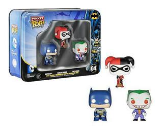 Funko Pocket Pop Lata #04 - Batman + Harley Quinn + Joker