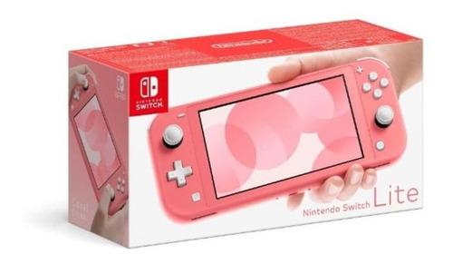 Imagen 1 de 3 de Nintendo Switch Consola Lite Coral