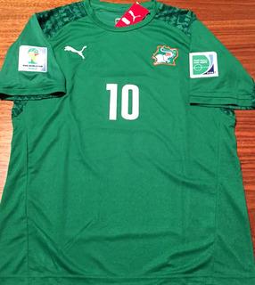 Camisa Costa Do Marfim Copa 2014 Gervinho Uniforme 2