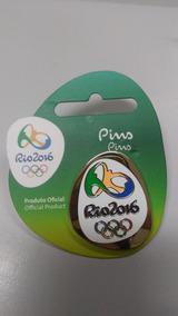 Pin Oficial Logo Olímpica Dourada - Oficial Rio 2016