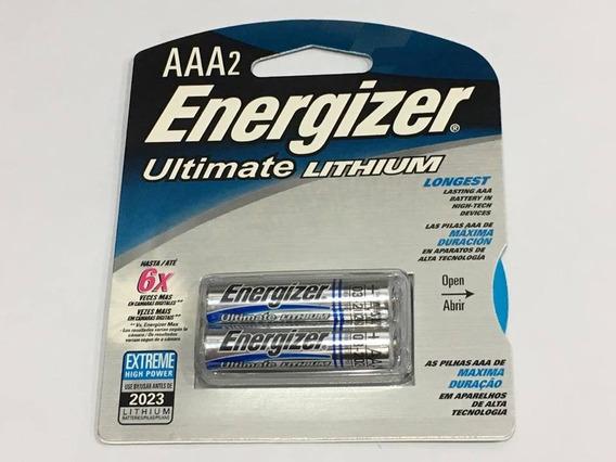 Pilha Energizer Aaa2 Ultimate Lithium Cartela Com 2