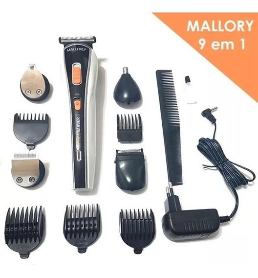 Kit Barbeador Aparador De Pelos Mallory Multi Groom 9 Em 1