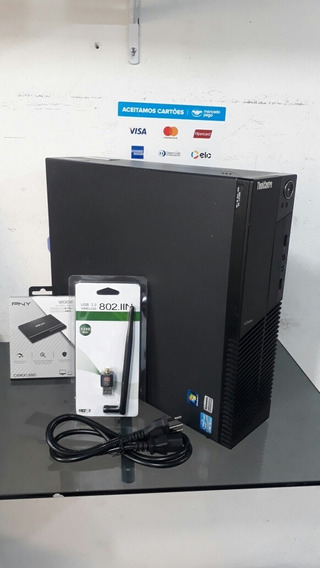Pc Lenovo Thinkcentre M91p Corei5 8gb Ram Ssd 120gb Hd 320gb