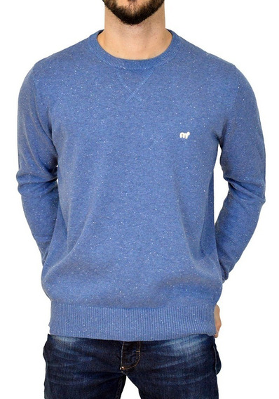 Sweater Pullover Cuello Redondo Hombre Mistral Algodón Moda
