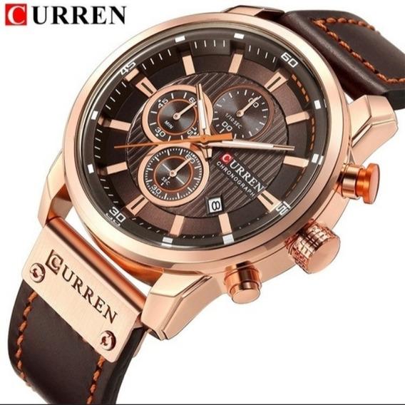 Curren Relógio Masculino De Luxo Pulseira De Couro