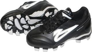 Zapatos Olmeca Beisbol Bastian X1 Juvenil Negro/blanco