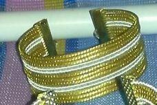 2 Pulseiras Lisas Em Capim Dourado