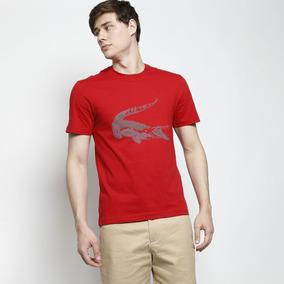 e2c5ae720ae Camiseta Lacoste Masculina Estampada Em Algodão Pima