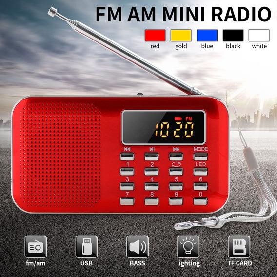 Recebedor Lcd Digital Portátil Fino Mini Estéreo Am Rádio Fm