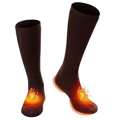 c/ómodos con terapia magn/ética para exteriores unisex anticongelantes Calcetines t/érmicos con autocalentamiento color rojo c/álidos para invierno suaves