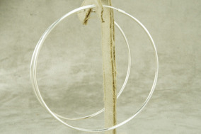 Brinco Argola Feminina 69 Mm (me4,5) Prata