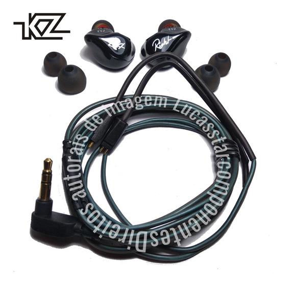 Fone Kz Zs3 In Ear Retorno De Palco Profissional