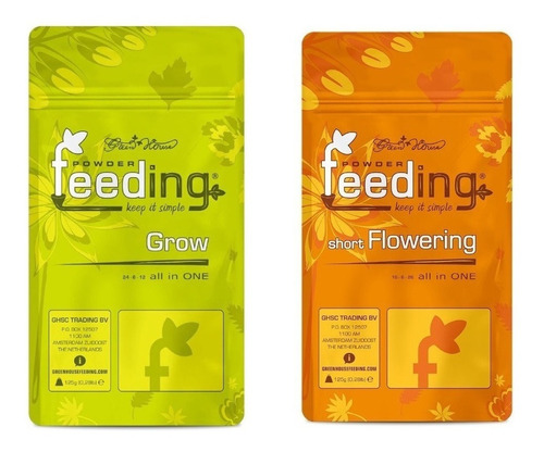 Feeding Grow + Short Flowering 125g Crecimiento Y Floración