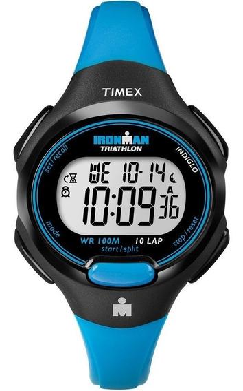 Reloj Dama Timex Ironman T5k526 Deportivo Azul Crono Digital
