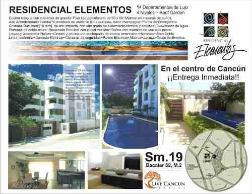 Penthouse En Venta Residencial Elementos Sm19 Cancun