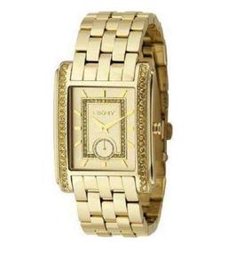 Relógio Luxo Feminino Dkny Donna Karan Quadrado C/nf Ny4394