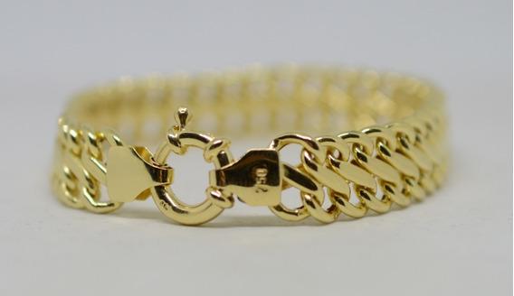Pulseira Lacraia Grossa Ouro 18k 750