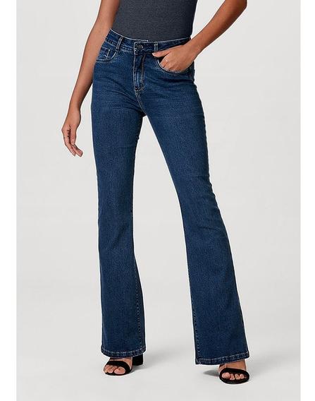 Calça Jeans Feminina Modelagem Flare Com Elastano Hering