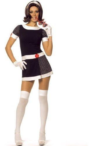 Imagen 1 de 1 de Mod Chica Elegante Traje Adulto De Halloween Tamaño Medio 8-