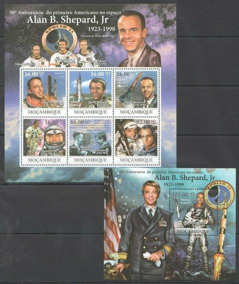2011 Espacio- Aniv Alan Shepard - Mozambique (2 Bloques)