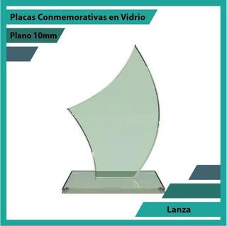 Premiación En Cristal Lanza Pulido Plano 10mm