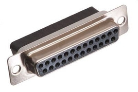 Kit 4 Conector Db25 Fêmea 180 Graus Solda Fio Envio 24 Hs