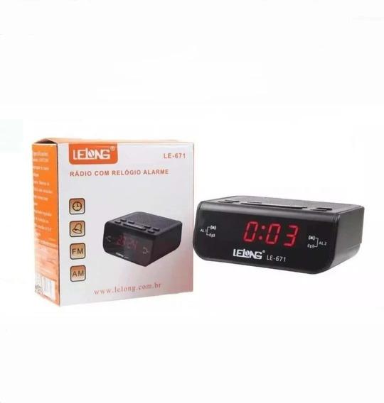 Relógio 671 Despertador Digital Elétrico De Mesa Radio Am Fm
