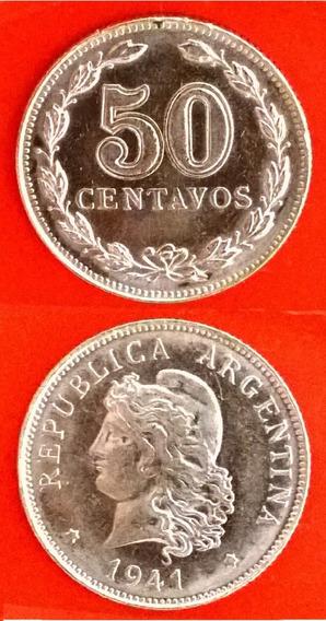 Argentina 50 Centavos De 1941. Cj#173. Mb