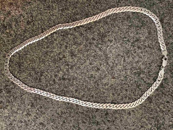 Corrente Cordão Maciço De Prata 925 Grumet Italiano
