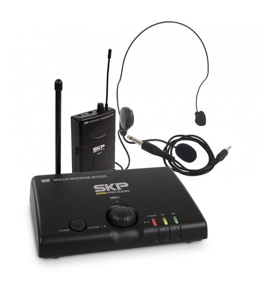 Microfone Sem Fio Headset De Cabeça Uhf Mini V Skp
