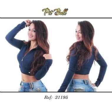 Jaqueta Pitbull Jeans Ref 21195 Casaco Pit Bull Jeans
