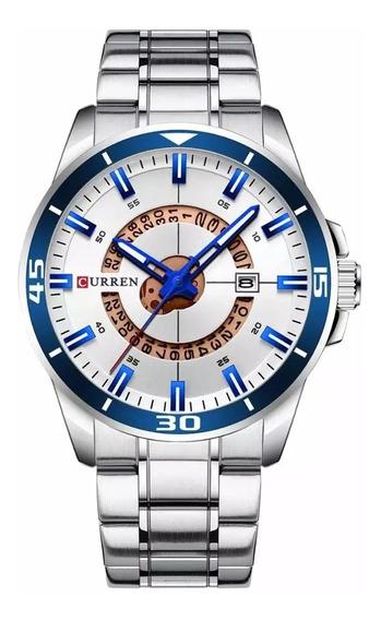 Relógio Masculino Curren Barato De Luxo Em Aço Inox Original