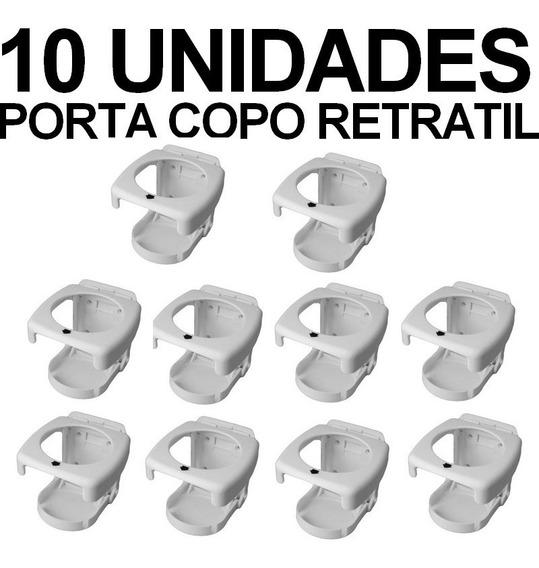 Porta Copos Retrátil Dobrável Barcos Lanchas Carros 10 Unid.