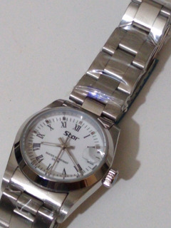 Reloj Star Quartz Junior Cristal Con Lupa Acero Sumerg Orig