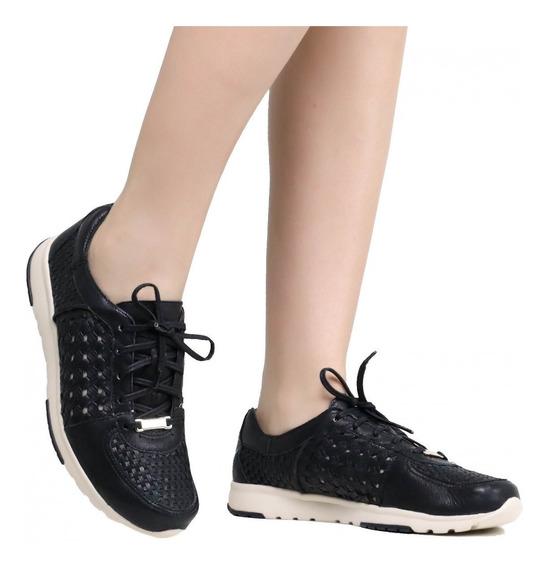 Tênis Feminino Zariff Shoes Vazado Em Couro