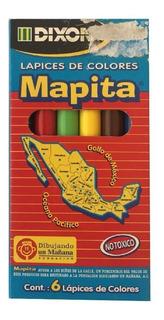 Paquete C/10 Lapices De Colores Mapita Corto 6 Pzs