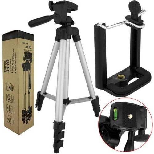 Tripe Semi-profissional Para Filmadora Celular Câmera 1.02m Encaixe Universal De Alumínio Resistente Haste Direcional