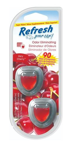 Imagen 1 de 2 de Perfume Fragancia Para Auto Refresh- Mini Oil Very Cherry X2