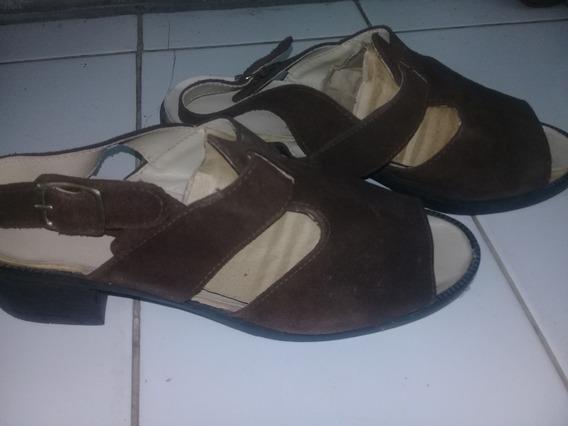 Sandalias De Mujer De Gamuza