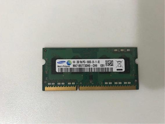 Memória Ram Ddr3 2gb 1333 Mhz Samsung Para Notebook