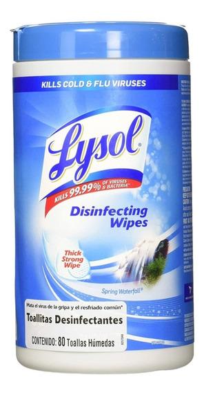 Toallitas Lysol Desinfectantes Superficie Elimina 99.9% 80p