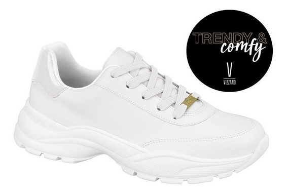 Tênis Sneaker Vizzano Branco Feminino - 1331.101