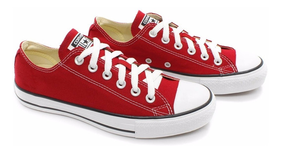 Tênis All Star Converse Vermelho Ct As Core Original Rock