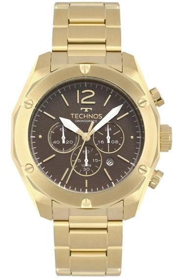 Relógio Analógico Technos Cronografo Dourado Os20hmf/4m