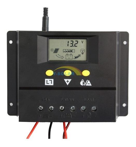 Controlador De Carga 60a Painel Solar Pwm